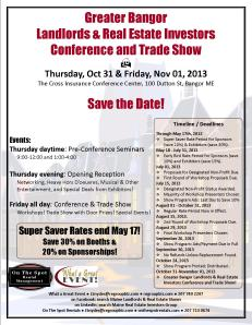 Greater Bangor Real Estate, Housing & Land Use Conference