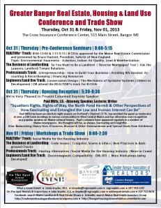 Greater Bangor Real Estate, Housing & Land Use Conference and Trade Show