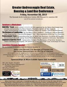 Greater Androscoggin Real Estate, Housing & Land Use Conference