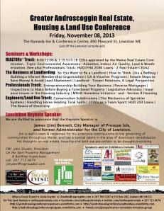 Andro Housing Conference Poster - Updated - 13 Oct 2013