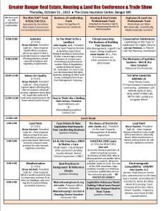 Bangor Housing Conference Thursday Workshops